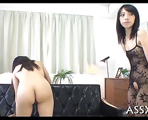 Explicit oriental anal invasion toying