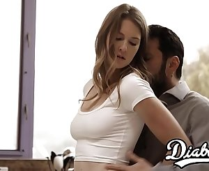 Young vixen Ashley Lane thrashed with dick creampie