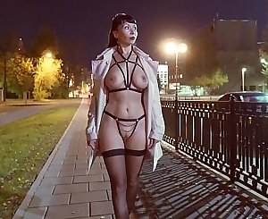 Straps and stockings at the night