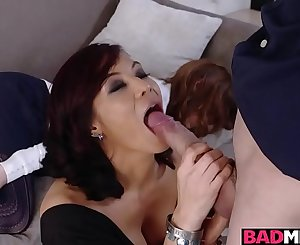 Juan Loco plowing a hot milf moist pussy on the couch balls deep!
