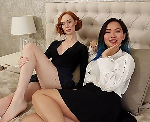 Hot homemade lesbian sex with interracial lesbians