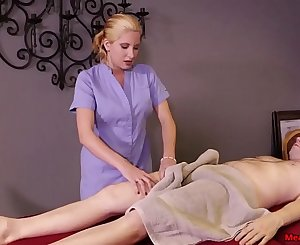 Blonde woman dick treatment